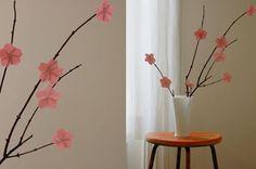 Artesanato com flores de origami