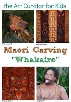 Art History for Kids! Information, art project ideas, and discussion questions about the Maori meetinghouses (wharenui), haka (dance), and whakairo (carvings).