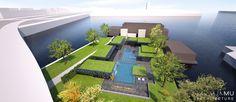 Piscine, espaces de détente, bains chaud et froid, bain vapeur... Ouverture prévue Septembre 2014 au Bota Bota, spa-sur-l'eau à Montréal