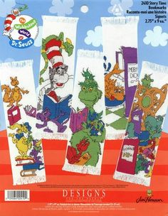 Cross-stitch Dr Suess bookmarks... 1/4