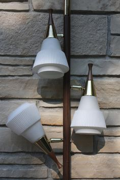 Vintage Mid Century Modern Tension Pole Lamp Light By Cybersenora, $250.00