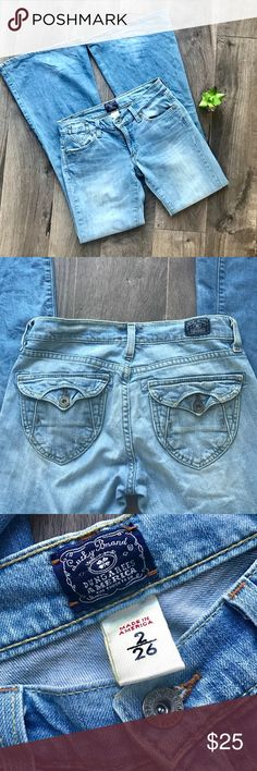 Lucky Brand Flare Denim Jeans Size 2 / 26 Lucky Brand  Flare Denim Jeans Size 2/26 EUC Lucky Brand Jeans Flare & Wide Leg