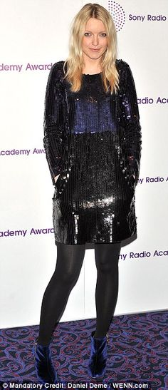 Stunned: Lauren Laverne, who looked very pretty in her sequined dress, was left gobsmacked at Morgan Lauren Laverne, Sequin Dress, Dj, Sequins, Nylons, Pretty, Skirts, Woman, Dresses