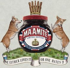 Brilliant limited edition jar from Marmite for the Queens Jubilee