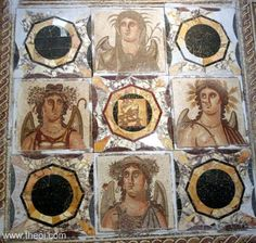 Ancient Greek & Roman Mosaic: The Four Seasons