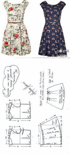 Patrones de vestidos de diario