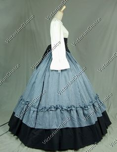 civil war dress patterns | Civil War Victorian Viscose Cotton Ball Gown Dress Reenactment ...