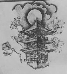 japanese with tattoos Japanese Temple Tattoo, Japanese Tattoo Art, Japanese Tattoo Designs, Japanese Art, Japanese Tattoos For Men, Traditional Japanese Tattoos, Japanese Sleeve Tattoos, Samurai Tattoo, Samurai Art