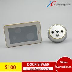 Smart Digital Door Peephole Mini Spyhole Camera Door View Camera at the Door with 4.3 Inch Touch Screen For Security | New Gadgets Info