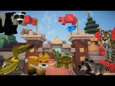 Minecraft School : ZOO ANIMALS LEGO BUILDING CHALLENGE! - YouTube