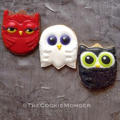 Halloween Owls in Costume   Cookie Connection