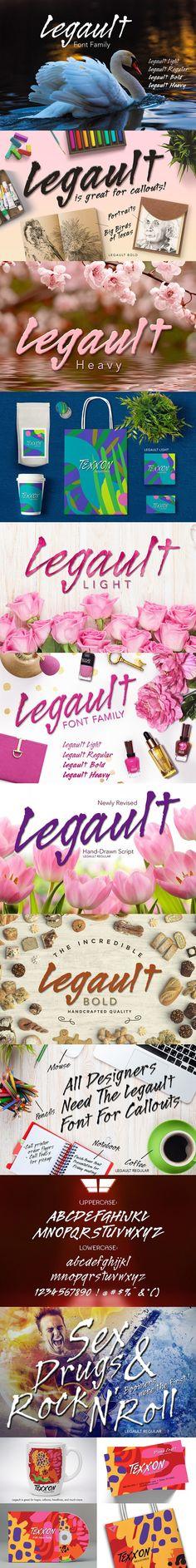 Legault Font Family. Script Fonts. $29.00