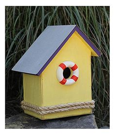 SS Birdsong Bird House with Purple Roof ** Find out more by clicking the VISIT button