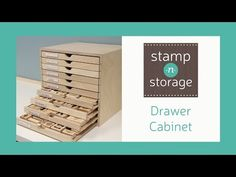 Stamp-n-Storage Drawer Cabinet