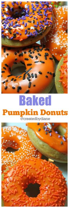 baked pumpkin donut recipe @createdbydiane