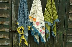 Crochet scarves with flowers | Flickr - Photo Sharing!