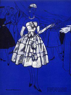 Christian Dior 1953 Evening Gown, Bernard Blossac