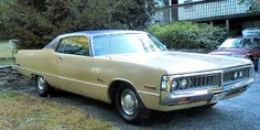 1972 Chrysler Newport.  This was the first car I ever owned.  I got it for $300 in 1983 and drove it for one summer until it collapsed on me :)
