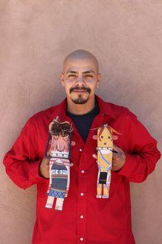 Katsina carver Kevin Chavarria (Hopi) Native American Artists, Native American Indians, Santa Fe Usa, Ronald Mcdonald, Christmas Sweaters, Museum, People, American Indians, Native Indian