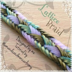 "469 Likes, 41 Comments - Adele Griffiths (@adele.griffiths) on Instagram: ""..... Lattice Braid Bracelet Designed by me Tutorial by @amandaandmonicarloomy Hook only…"""