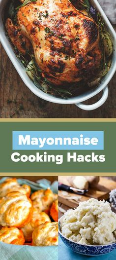 Whether you love it or hate it, mayonnaise can really come in handy.Besides being a ~delicious~ condiment, mayonnaise can also be used in a ton of unexpected cooking applications that'll take your … Mayonnaise Recipe, Homemade Mayonnaise, Fun Cooking, Cooking Tips, Cooking Recipes, Cooking Steak, Cooking Salmon, Cooking Classes, Alton Brown