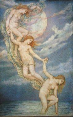 ".Moonbeams dipping into the Sea"" (Evelyn de Morgan)"