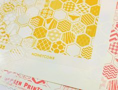Hambly Screen Prints: Honeycomb (trendy this spring!)
