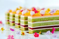 White Chocolate Cream Pistachio Strawberry & Orange Basil Pearls by Chef Reno. (repinned)