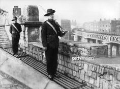 Members of the Irish National Guard on duty on the roof of Liberty Hall, Dublin. Ireland 1916, Dublin Ireland, Ireland Travel, Stock Pictures, Old Pictures, Old Photos, Stock Photos, Free Photos, Irish Republican Army