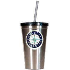 Seattle #Mariners 16oz Stainless Steel Tumbler with Straw $24.99