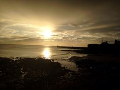 Tynemouth king Edwards bay beach 7.55 am 18 th febuary 2015 www.tynemouthwebcam.com  #sunrise