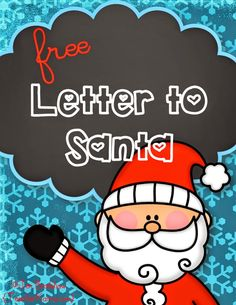 FREE:  Letter to Santa Claus Template.