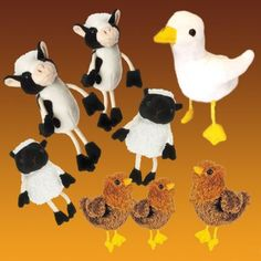 Farmer Duck Finger Puppets - eight puppets to help children engage with this popular story.