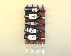 Rustic Wine Rack Wall Mounted Wine Rack Wood Wine Rack