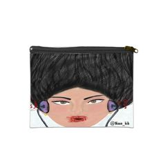 """Sing with Me 7"""" x 5"""" Cosmetic Bag White/Black - SnapMade ($22) ❤ liked on Polyvore featuring beauty products, beauty accessories, bags & cases, dop kit, cosmetic bags, make up bag, makeup purse and travel kit"""