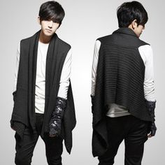 Online Shop Free shipping Hot sale 2014 autumn and winter dual personality sweater vest fashion sweater the scarf coat vest,men coat A15|Aliexpress Mobile http://m.aliexpress.com/promotion/black-sweater-vest-men.html?tracelog=wssearch2mobilesearch