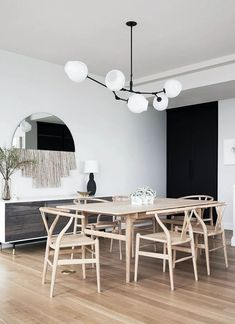 Dining room furniture ideas that are going to be one of the best dining room design sets of the year! Get inspired by these dining room lighting and furniture ideas! Minimalist Dining Room, Minimalist Home, Table Design, Dining Room Design, Plywood Furniture, Dining Room Furniture, Dining Rooms, Wood Dining Room Tables, Furniture Ideas