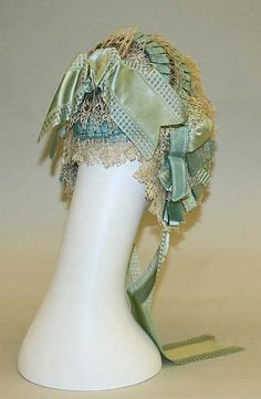 Cap (image 2) | American | 1845-1850 | silk | Metropolitan Museum of Art | Accession #: C.I.53.44.4