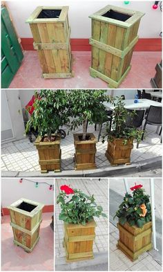 Have a look at this image! Rustic wood pallet use in the creation of the planter boxes has made it look so inspiring and amazingly the best one. They are much beautiful looking which can be made further beautiful with the involvement of fresh flowers into it.