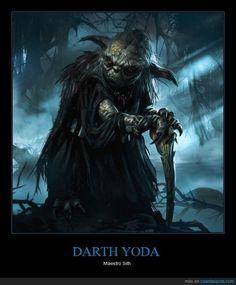 Yoda si fuese Sith sería algo así - Maestro Sith   Gracias a http://www.cuantarazon.com/   Si quieres leer la noticia completa visita: http://www.estoy-aburrido.com/yoda-si-fuese-sith-seria-algo-asi-maestro-sith/