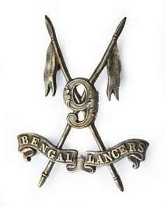 Indian Army, 9th Bengal Lancers Victorian Officers Pouch Badge, 1886-1901