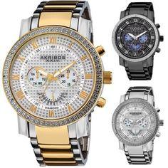 eBay promo code: 92% off Men's Akribos Diamond Bezel Steel Watch – http://promocode4share.com/stores/ebay.com/