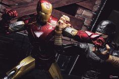 "3 Likes, 2 Comments - wInGz Ho (@wingz14) on Instagram: ""Iron Man vs Daredevil #ironman #daredevil #marvel #avengers #shfiguarts #hasbro #iphoneography"""