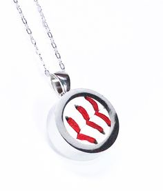 Baseball Necklace Sterling Silver Baseball by therustedkey, $60.00
