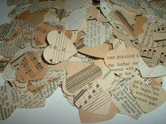 vintage music hearts