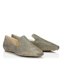 Jimmy Choo - Wheel - 365wheellag - Light Bronze Lamé  Glitter Slippers
