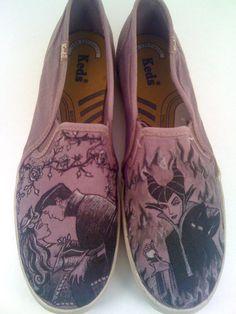 Disney Sleeping Beauty Custom Made Shoes ARTWORK and by BRINKADINK