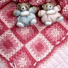 Colchas y Mantas Tejidas a Crochet para Bebe con Patrones 726b633153e