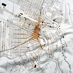 line art map - good design for tote bags