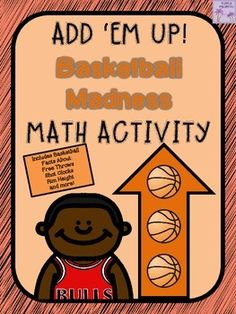 Use this ADD EM UP! game as a SLAM DUNK way to practice math skills and learn some BASKETBALL facts.  Product includes both NBA and NCAA facts.  Great for March Madness!! This is the newest edition in my ADD 'EM UP! math series!This is a fun, hands-on way for students to review their math skills and learn some fun facts about the game of basketball.